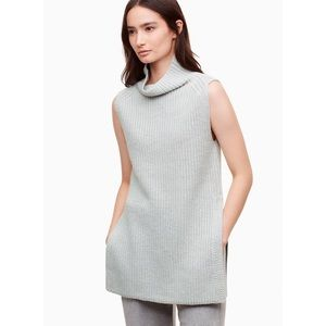 Aritzia Wilfred Durandal Sweater Wool Light Grey